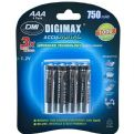 Digimax AAA 750 mAh 1.2V Ni-MH Rechargeable Batteries (4 Pack)